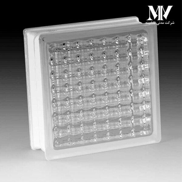 بلوک شیشه ای مدل چهارخونه اریب کاوه
