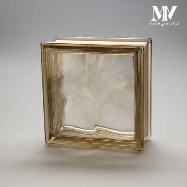 بلوک شیشه ای مدل کلودی طلایی کاوه