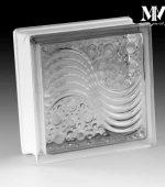 بلوک شیشه ای مدل موج و حباب کاوه