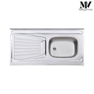 سینک ظرفشویی مدل 165 روکار استیل البرز