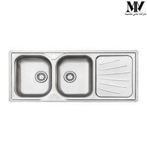 سینک ظرفشویی مدل 214 توکار استیل البرز