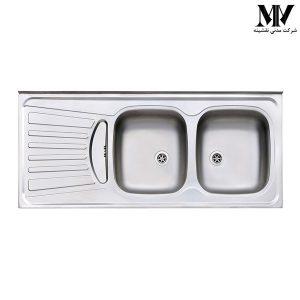 سینک ظرفشویی مدل 260 روکار استیل البرز