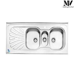 سینک ظرفشویی مدل 530 روکار استیل البرز