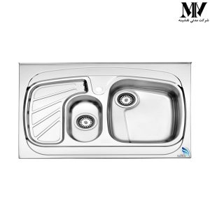 سینک ظرفشویی مدل 608 روکار استیل البرز
