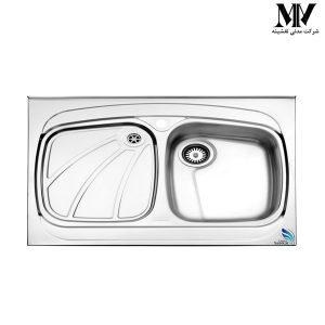 سینک ظرفشویی مدل 618 روکار استیل البرز