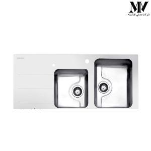 سینک ظرفشویی مدل کریستال سفید استیل البرز