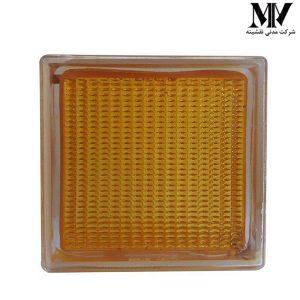 بلوک شیشه ای مدل ونیز نارنجی کاوه