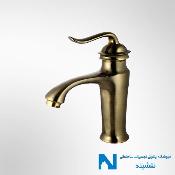 شیر روشویی البرز روز مدل اسپیرال رنگ برنز
