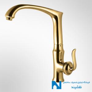 شیر سینک ظرفشویی البرز روز مدل اسپیرال طلایی