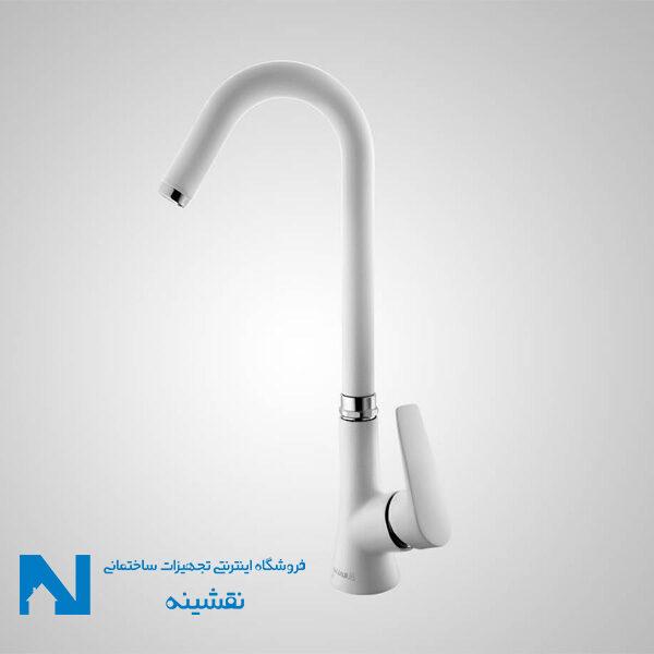 شیر ظرفشویی البرز روز مدل کارن رنگ سفید