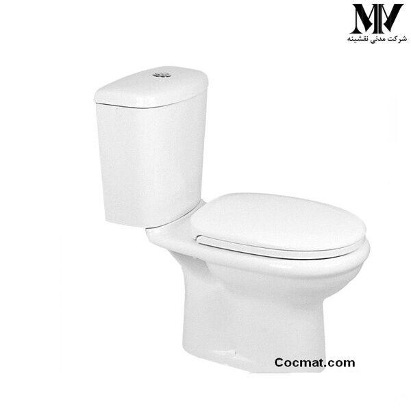 توالت فرنگی دو تکه گل آرا گلسار فارس