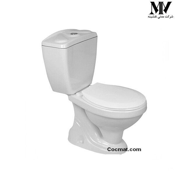 توالت فرنگی دو تکه نیلوفر65 گلسار فارس