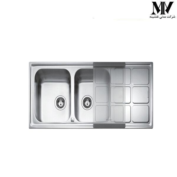 سینک ظرفشویی کد CUADRO 2B STEEL زیگما