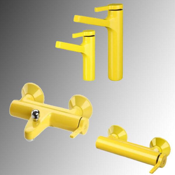 شیرآلات kwc مدل آوا رنگ زرد
