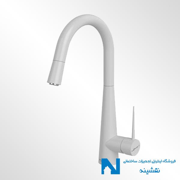 شیر ظرفشویی شاوری شودر مدل ایتن سفید کروم