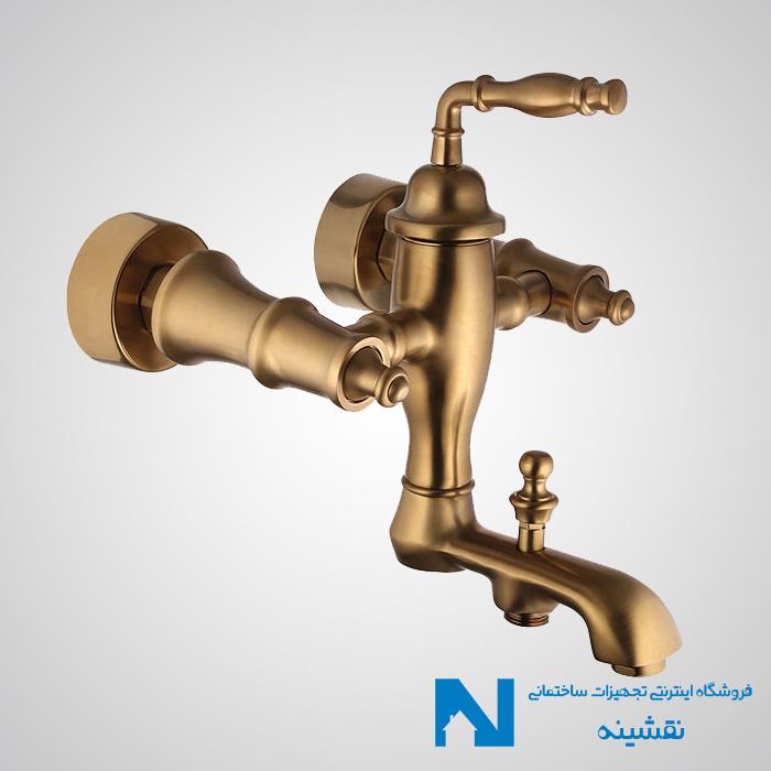 شیر حمام البرز روز مدل پرستیژ رنگ طلامات