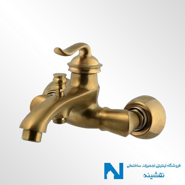 شیر حمام البرز روز مدل اسپیرال رنگ طلامات