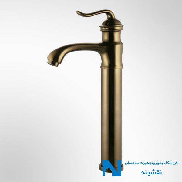 شیر روشویی پایه بلند البرز روز مدل اسپیرال رنگ برنز