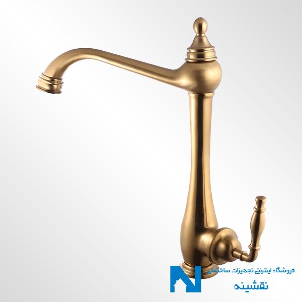 شیر ظرفشویی البرز روز مدل پرستیژ رنگ طلامات