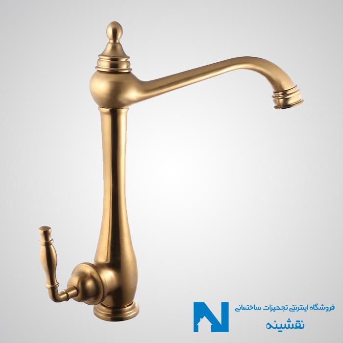 شیر سینک ظرفشویی البرز روز مدل پرستیژ رنگ طلامات