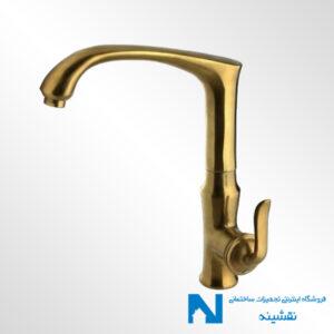 شیر سینک ظرفشویی البرز روز مدل اسپیرال رنگ طلامات