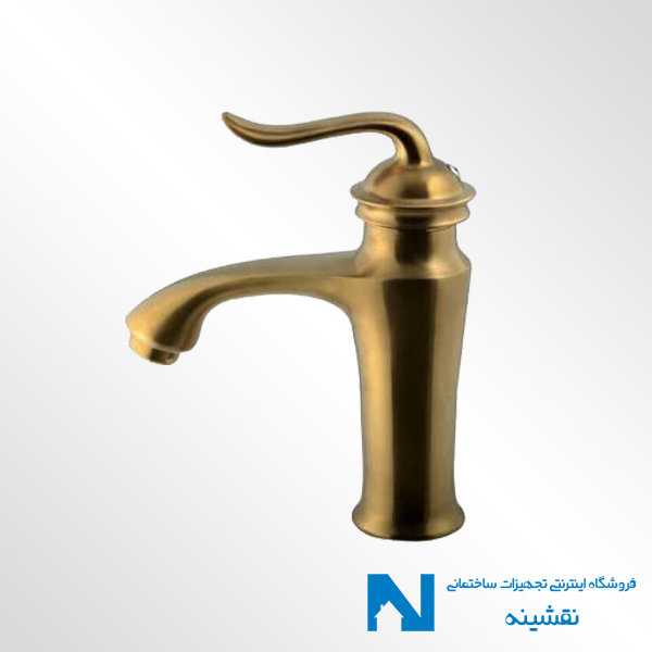 شیر روشویی البرز روز مدل اسپیرال رنگ طلامات
