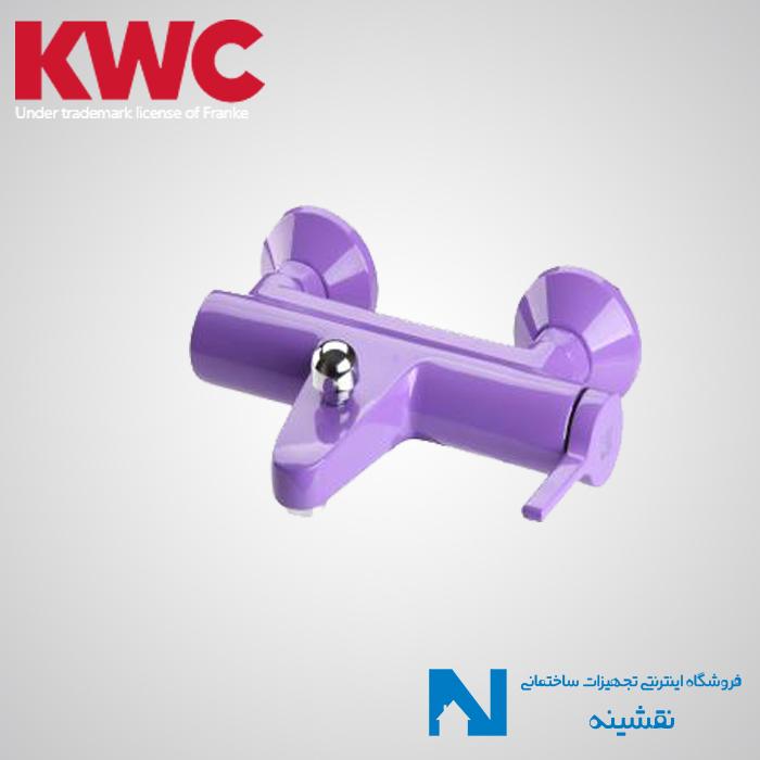 شیر حمام روکار kwc مدل آوا بنفش