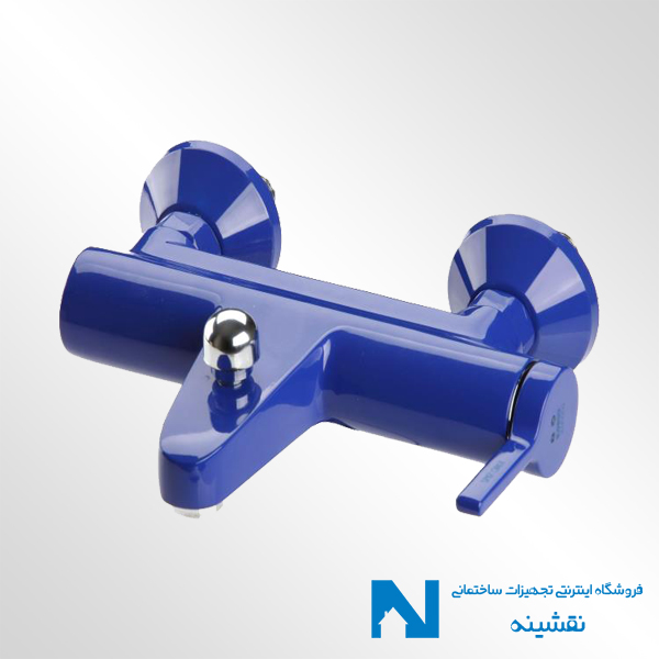 شیر حمام kwc مدل آوا رنگ آبی