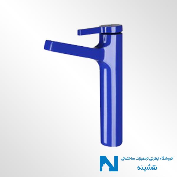 شیر روشویی پایه بلند kwc مدل آوا رنگ آبی