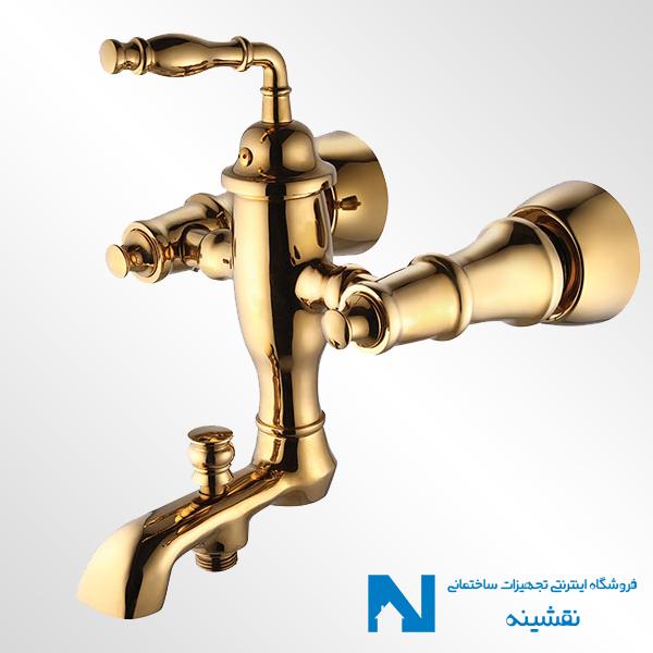شیر حمام البرز روز مدل پرستیژ رنگ طلایی