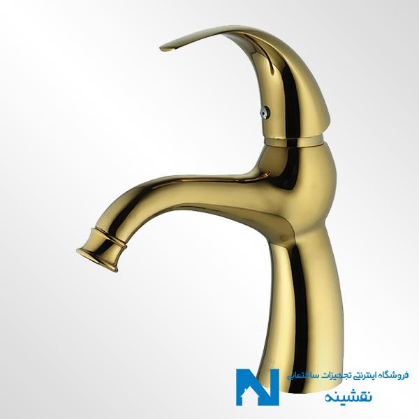 شیر روشویی البرز روز مدل تورینو رنگ طلایی