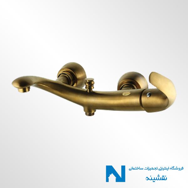 شیر حمام البرز روز مدل تورینو رنگ طلامات