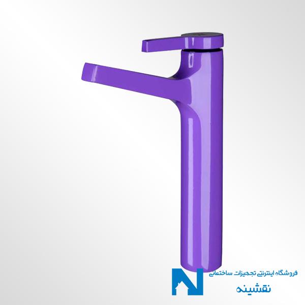 شیر روشویی پایه بلند kwc مدل آوا بنفش