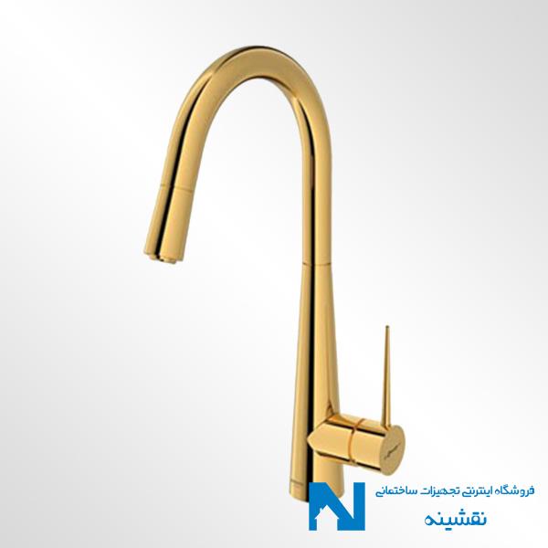 شیر ظرفشویی شاوری مدل ایتن رنگ طلایی