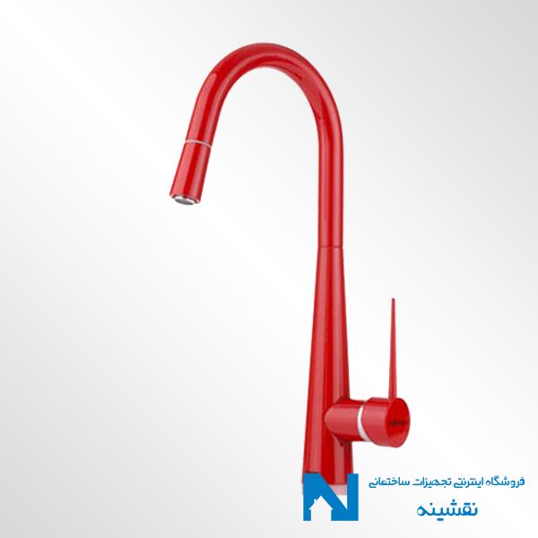 شیر ظرفشویی شاوری شودر مدل ایتن قرمز