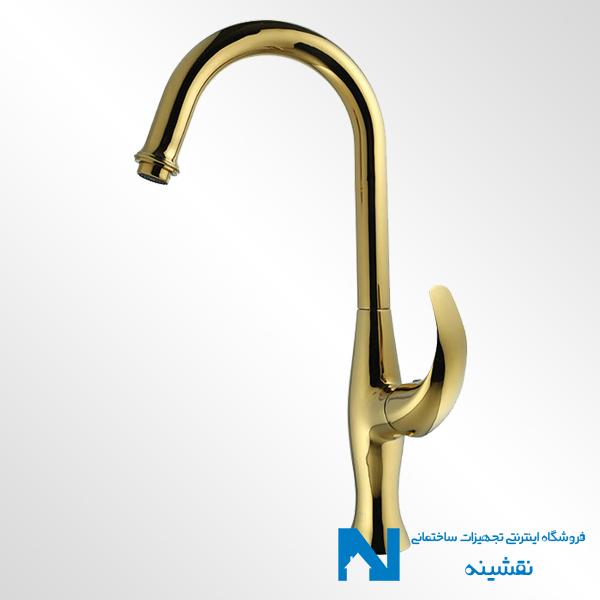 شیر ظرفشویی البرز روز مدل تورینو رنگ طلایی
