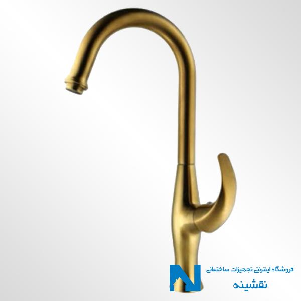 شیر ظرفشویی البرز روز مدل تورینو رنگ طلامات