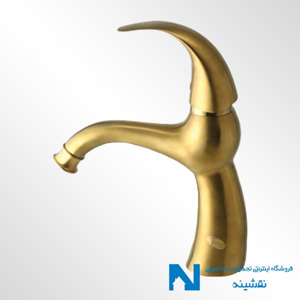 شیر روشویی البرز روز مدل تورینو رنگ طلامات