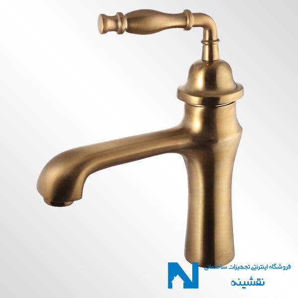 شیر روشویی البرز روز مدل پرستیژ رنگ طلامات