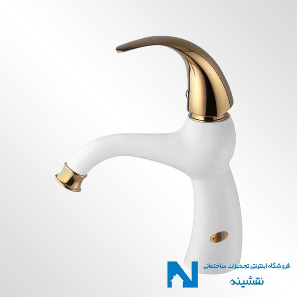 شیر روشویی البرز روز مدل جوکر سفید طلایی