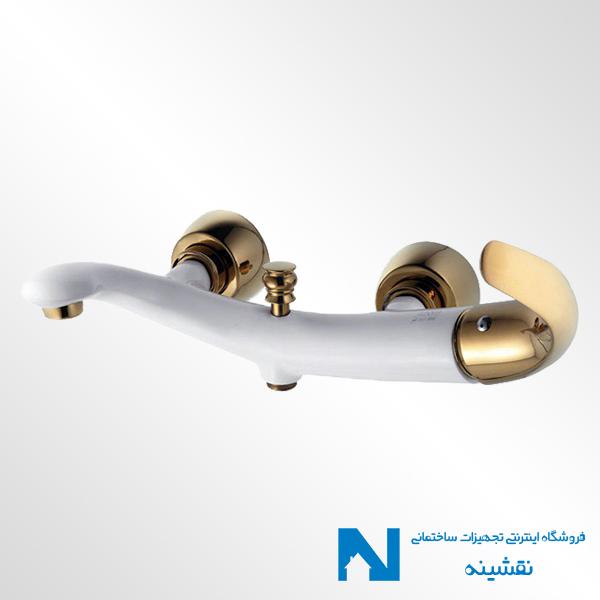 شیر حمام البرز روز مدل جوکر سفید طلایی
